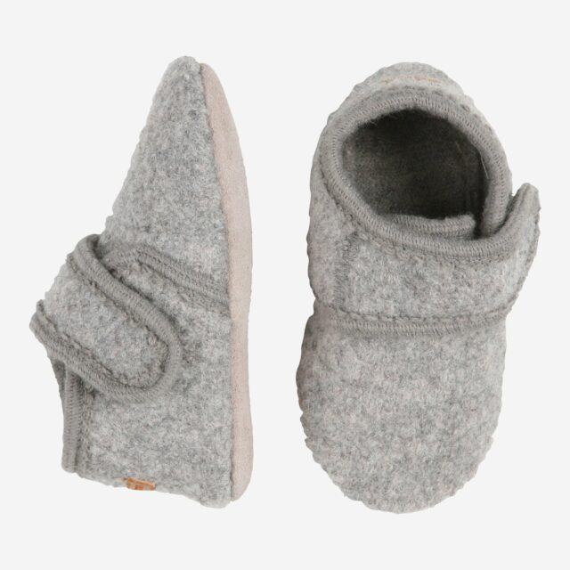 Melton uld sutsko - Lysegrå