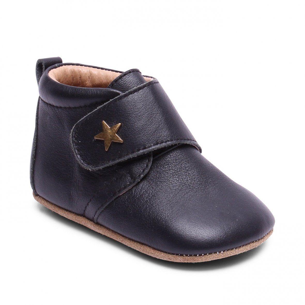 1be50255464 Bisgaard - Sort - Hjemmesko m. stjerne - 23 - Loafers