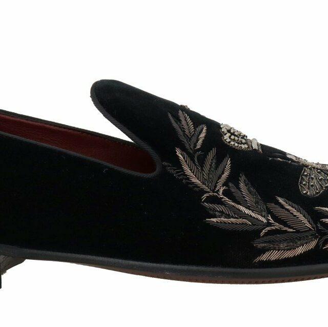 Black Velvet Crown Royal Bee Loafers