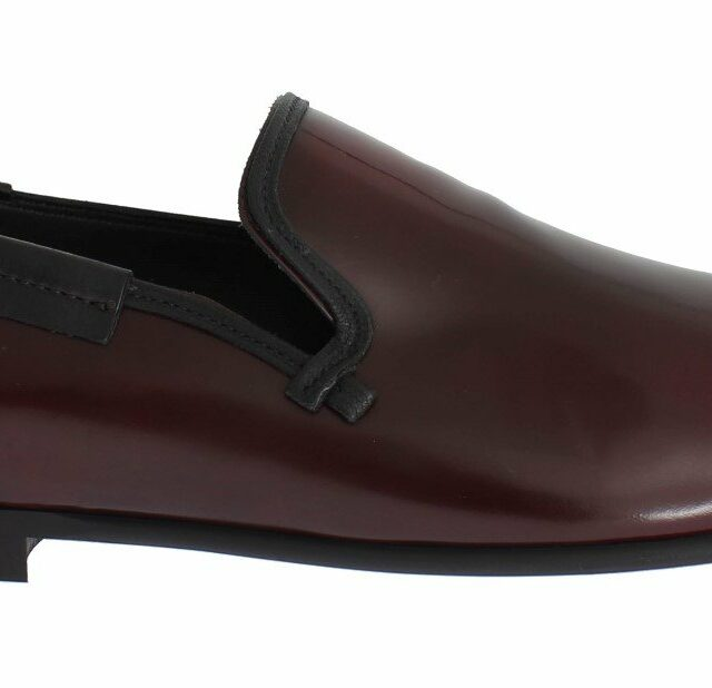 Bordeaux Patent Leather Dress Loafers