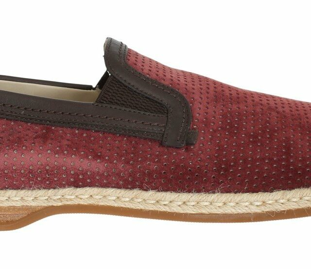 Bordeaux Leather Breathable Loafers