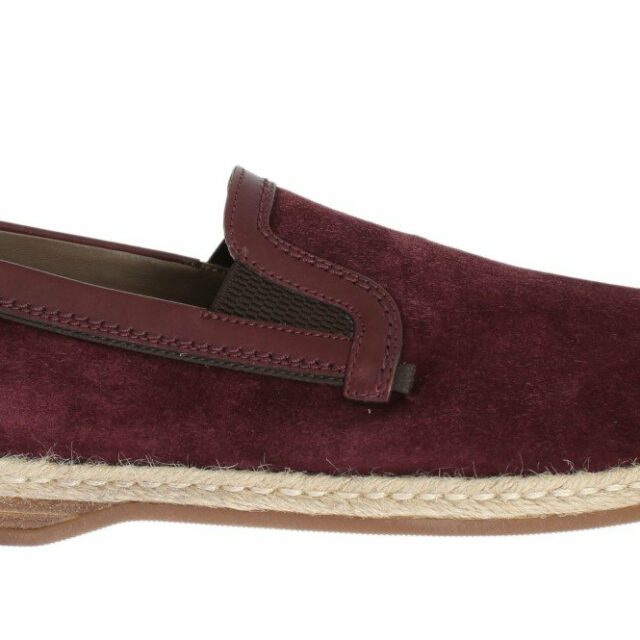 Bordeaux Suede Leather Logo Loafers