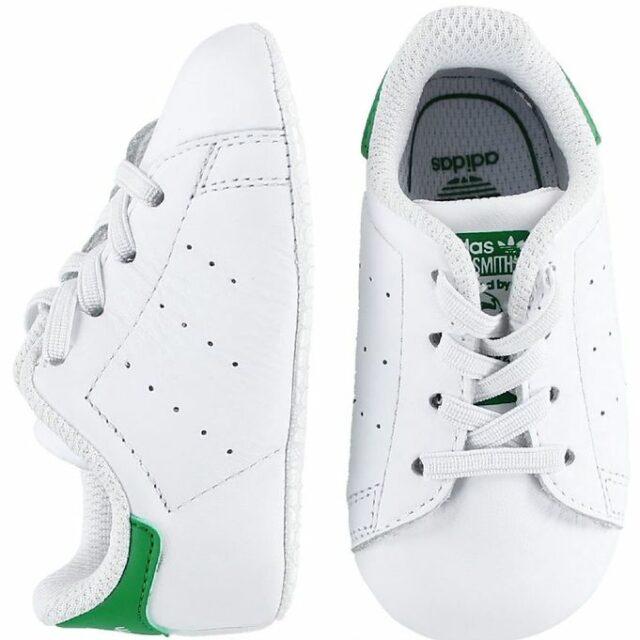 adidas Originals Hjemmesko - Stan Smith Crib - Hvid/Grøn