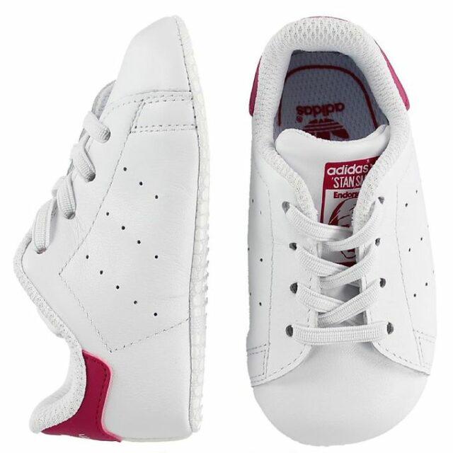 adidas Originals Hjemmesko - Stan Smith Crib - Hvid/Pink