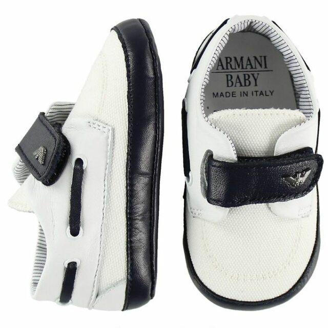 Armani Baby Hjemmesko - Hvid/Navy