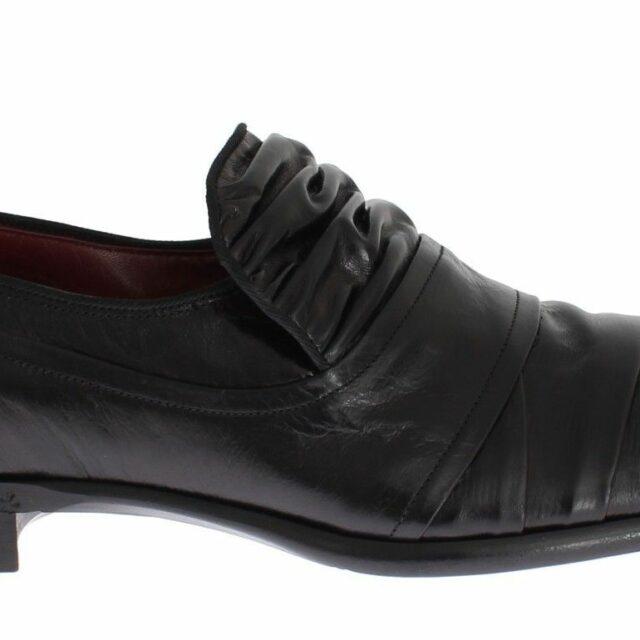 Black Kangaroo Leather Dress Formal Shoes
