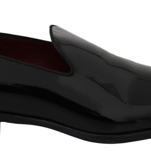 Black Patent Leather Loafers Dress Shoes