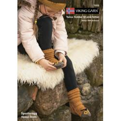 Viking strikkeopskrifter katalog 1908,  børne sokker, sportsragg &